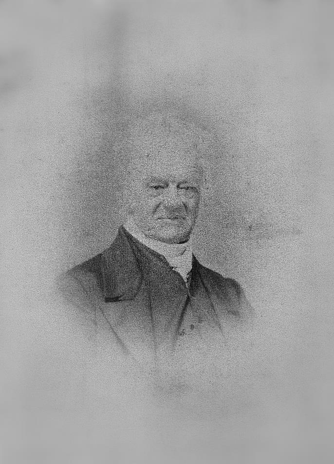 James Hodson, Manor of Hyde Trustee, then holder of Kingston Estate tenancy for the Gorings of Wiston. b. 1780, d. 1871. Photo, Hodson family archive.